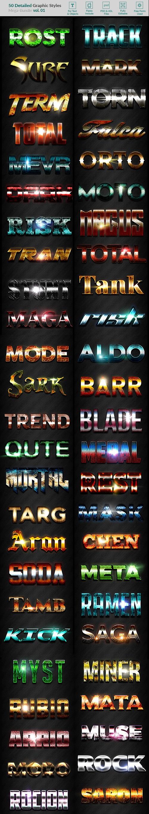 50 Text Effects - Bundle Vol 01 20011877