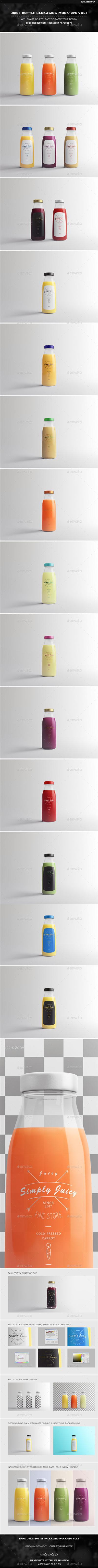 Juice Bottle Packaging Mock-Ups Vol.1 20136576