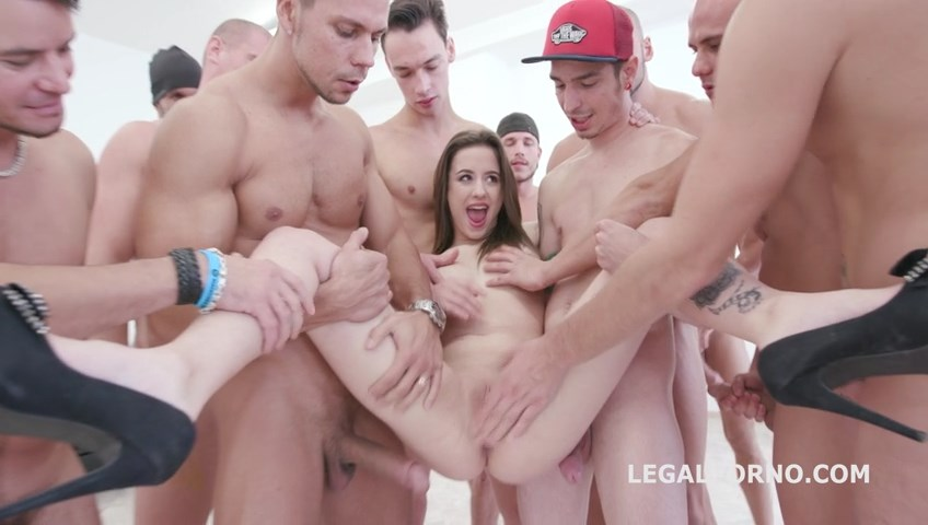 [LegalPorno.com] 15on1 TP GangBang with Gabriella Balls Deep Anal DAP TP Gapes Final DP 17 Cumshots with Facial and Swallow GIO455 / 23.09.2017 [Anal,