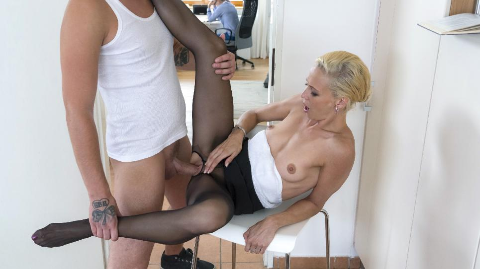 Lola B. (Naughty Czech MILF Lola B. gets fucked and cum covered by young stepson)